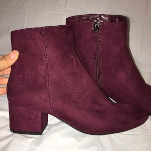 Wine Red Booties Size 9